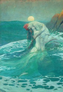 The Mermaid, 1910, Howard Pyle.