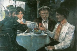 Breakfast in the Garden of Max Halbe, Lovis Corinth, 1899